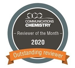 Communications Chemistry Reviewer of the Month badge