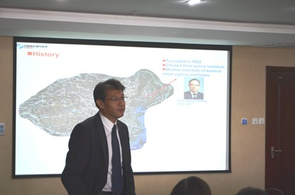 CIOMP Vice-President, Prof. Xuejun Zhang gives a presentation