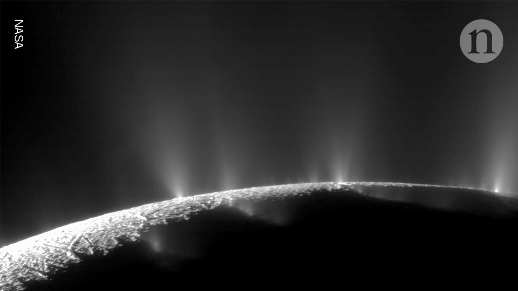 Hydrogen geysers on Saturn's moon suggest the possibility of life