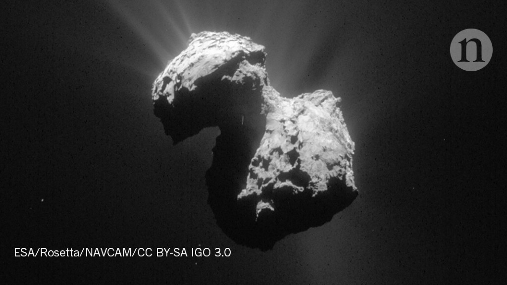 Celestial collision may have hatched rubber-duck comet