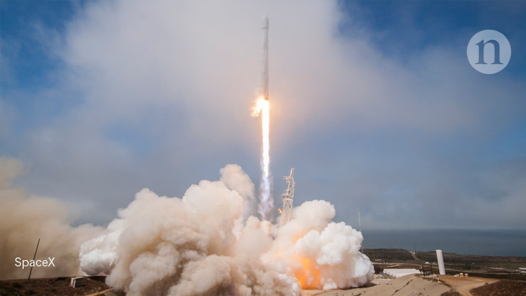 A SpaceX rocket blows a hole in the atmosphere