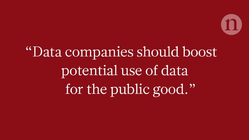 Use our personal data for the common good