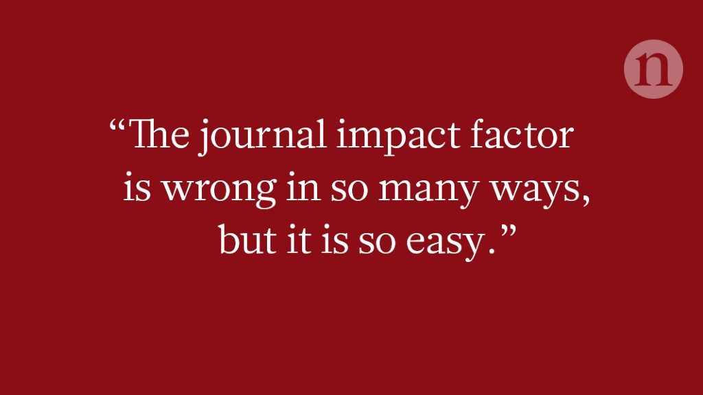 How will you judge me if not by impact factor?