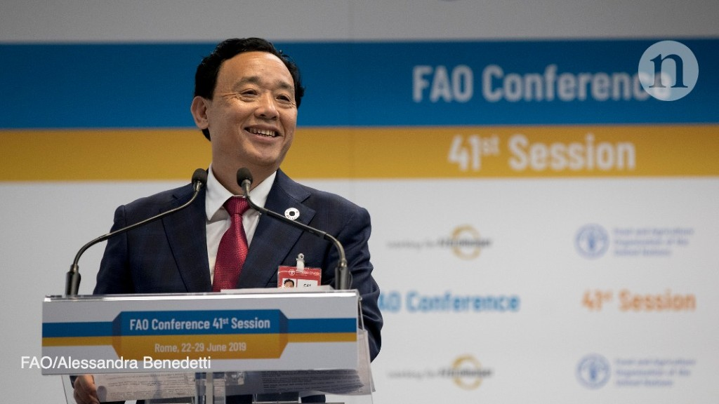 Chinese agriculture minister to head UN food agency