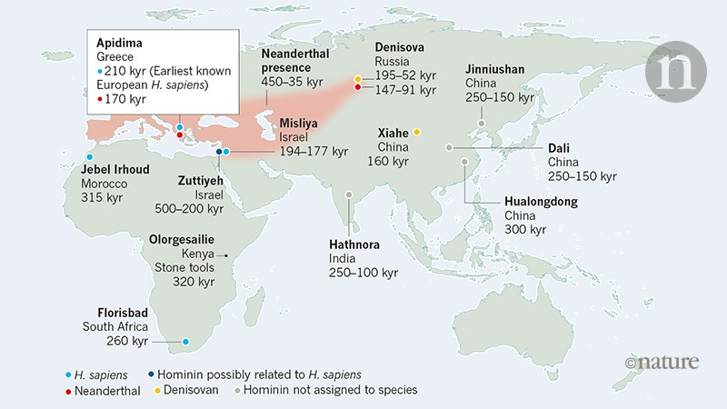 An early dispersal of modern humans from Africa to Greece