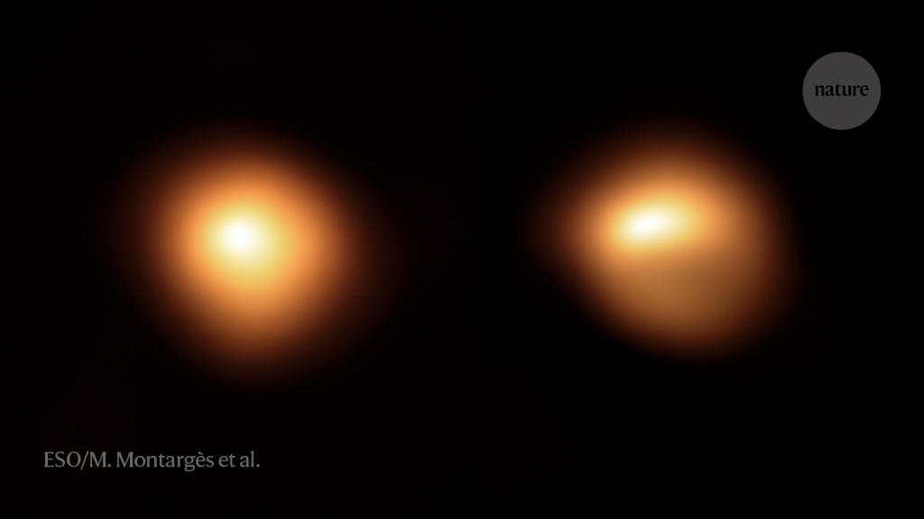Mysterious faded star Betelgeuse has started to brighten again - Nature.com