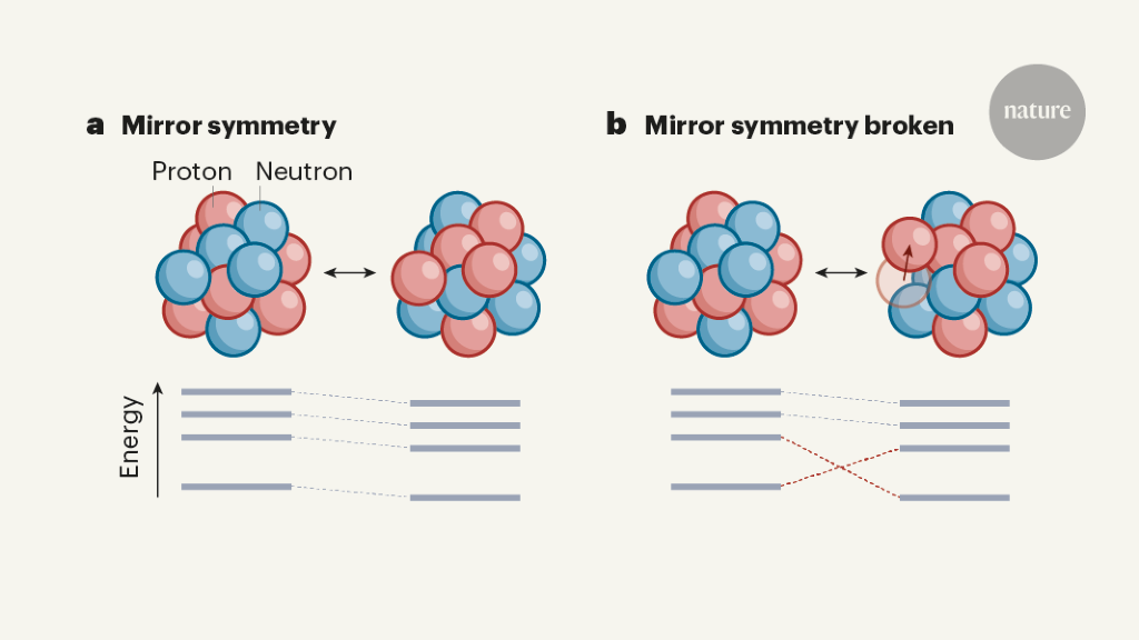 Mirror symmetry broken for nuclear ground states - Nature.com