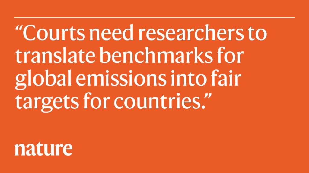 How scientists can help lawyers on climate action