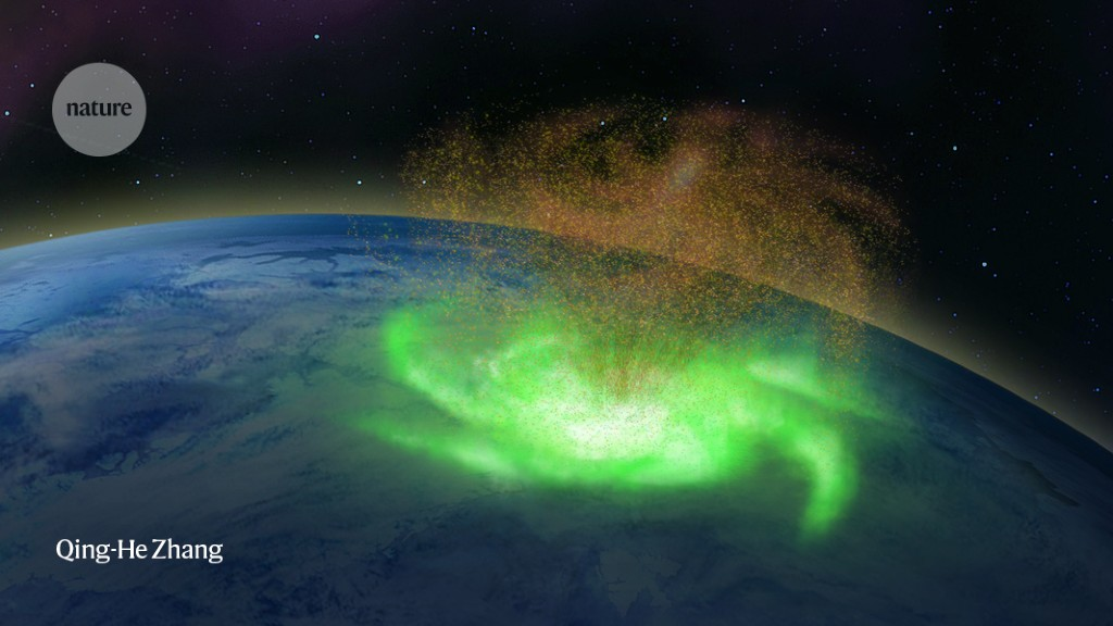 The first known space hurricane pours electron 'rain'
