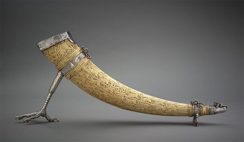 Fatimid carved ivory tusk