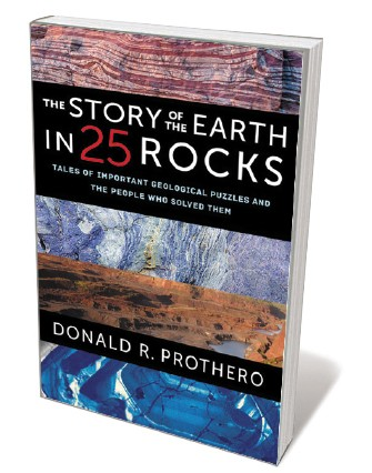 Book jacket 'Story of the Earth in 25 Rocks'