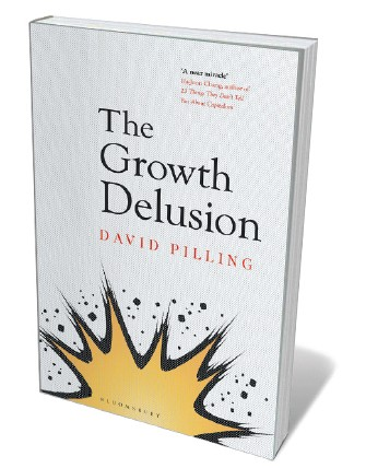 Book jacket 'The Growth Delusion'