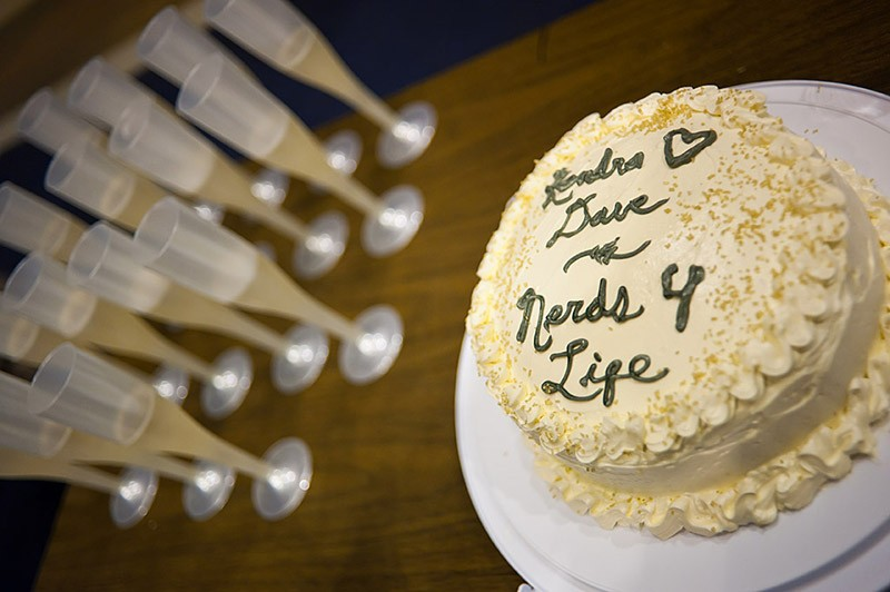 Marriage proposal cake
