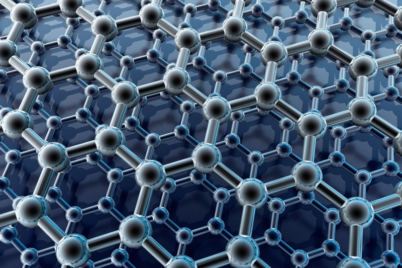 3D rendering of a double layer of graphene sheets