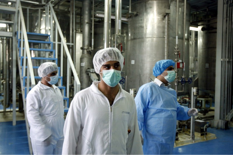 Inspectors look around the Uranium Conversion Plant in Iran