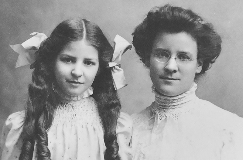 Katherine Briggs (R) and her daughter Isabel Myers-Briggs (L) in an undated photo.