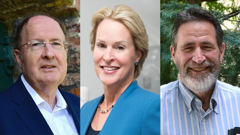 L-R: Gregory Winter, Frances Arnold, George Smith