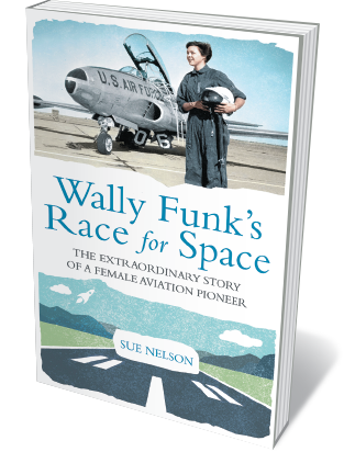 Book jacket 'Wally Funk's Race for Space'