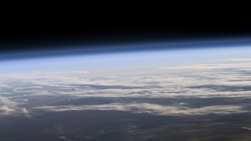 A view of Earth's atmosphere from space