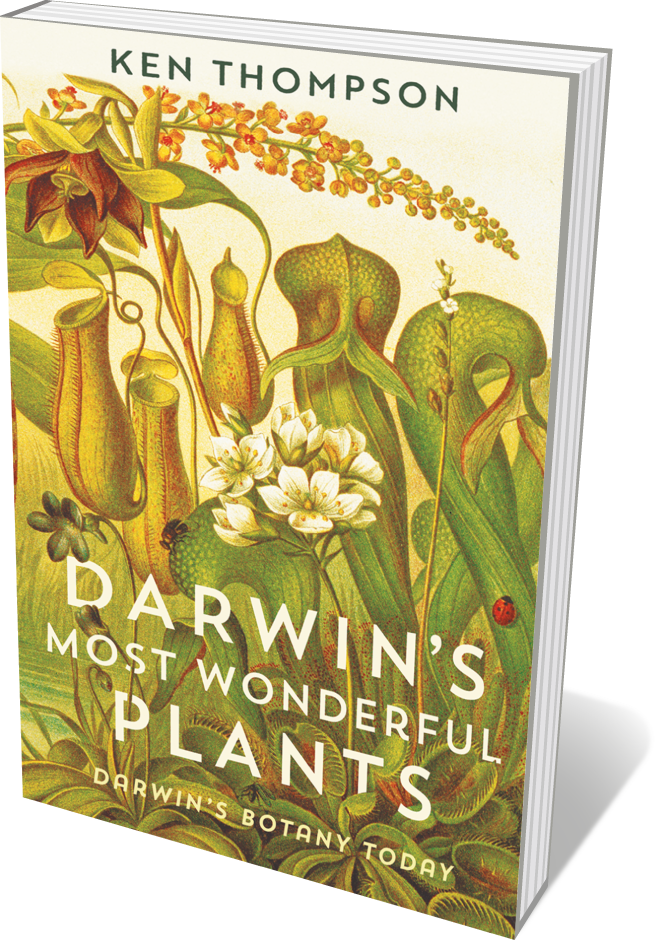 Book jacket 'Darwin's most WOnderful Plants'