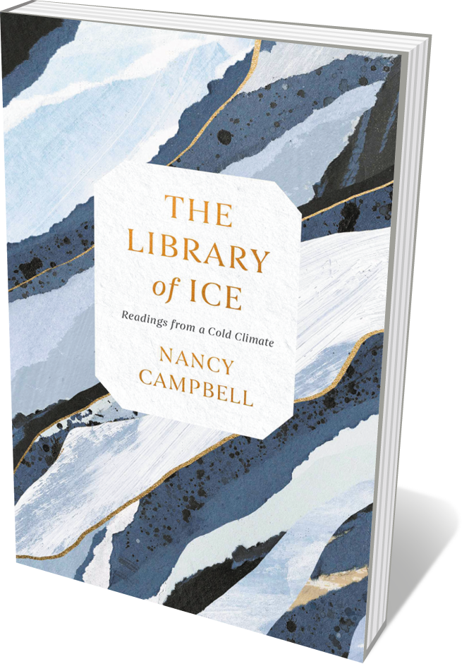 Book jacket 'The Library of Ice'