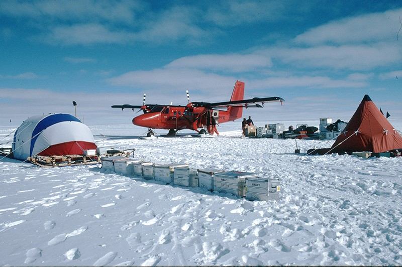The camp at the EPICA/FIRETRACC drilling site in Antarctica