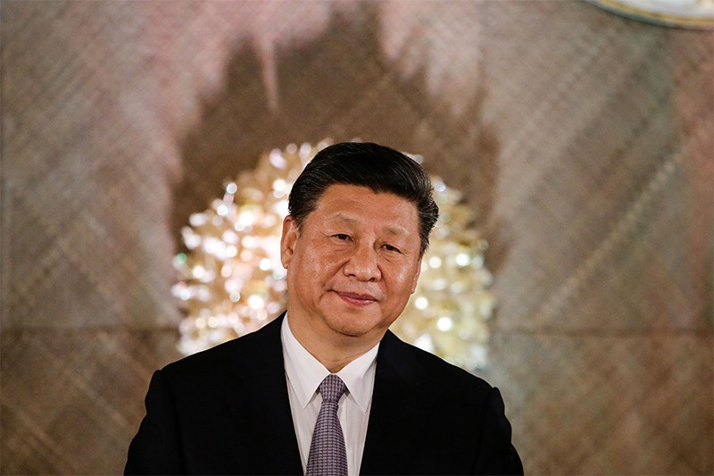 Xi Jinping smiles during a state banquet at the Malacanang Presidential Palace in Manila on November 20, 2018