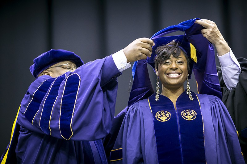 Marsha Cole graduating from LSU in 2012