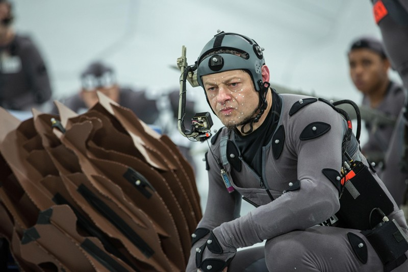 Andy Serkis using motion capture technology