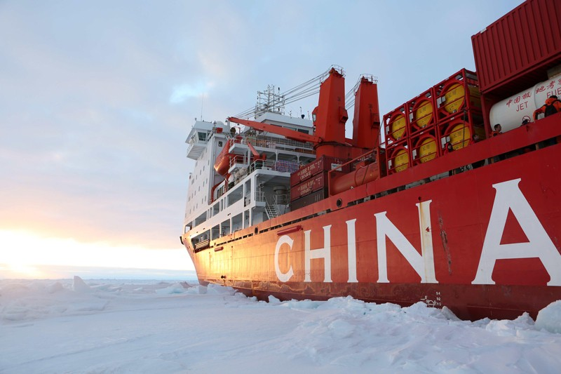 China's research icebreaker Xuelong