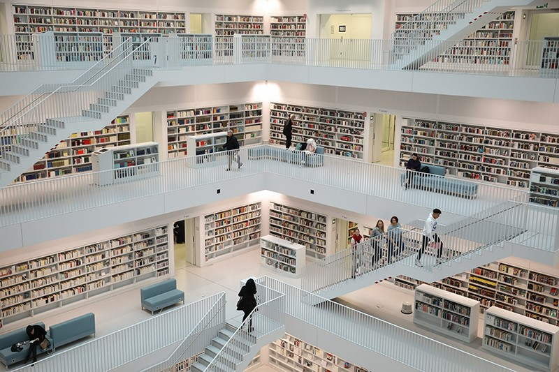 The public library in Stuttgart, Germany