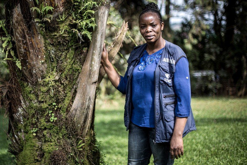 Marie-Claire Kolie, a general physician for the World health Organisation poses for a portrait in Butembo