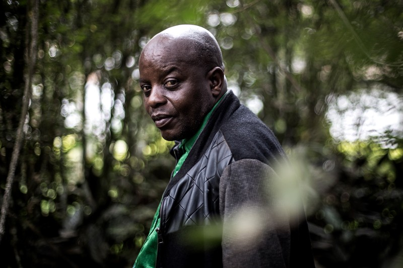 Francoise Mabruk, the traditional chief of the Mabalako district, in Butembo