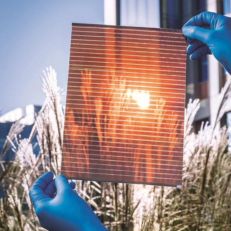 An inkjet-printed, flexible, perovskite-based solar module