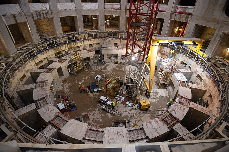 Employees work inside the ITER construction site in Saint-Paul-les-Durance, France