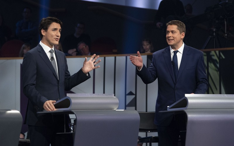 Liberal leader Justin Trudeau and Conservative leader Andrew Scheer
