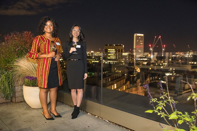 Doreen Anene and Jean Fan at the Nature Research Awards for Inspiring Science and Innovating Science