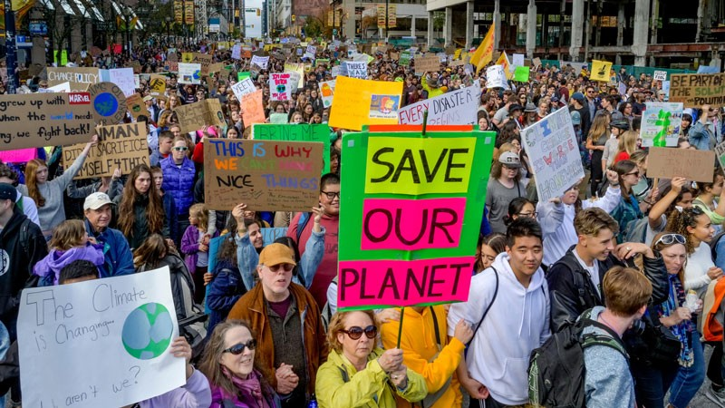 Global Climate Strike, Vancouver, Canada, 27 September 2019.