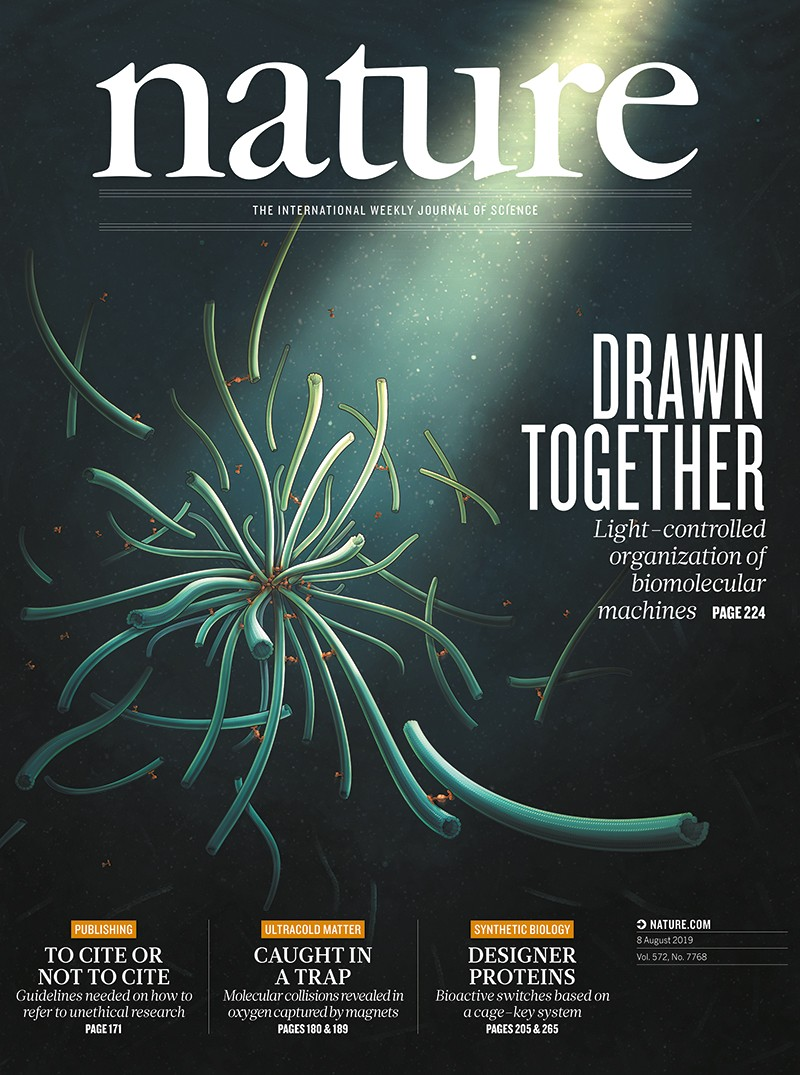 Front cover of Nature frm August 2019