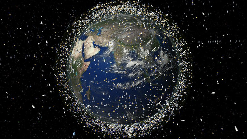 Debris objects in low-Earth orbit (LEO).