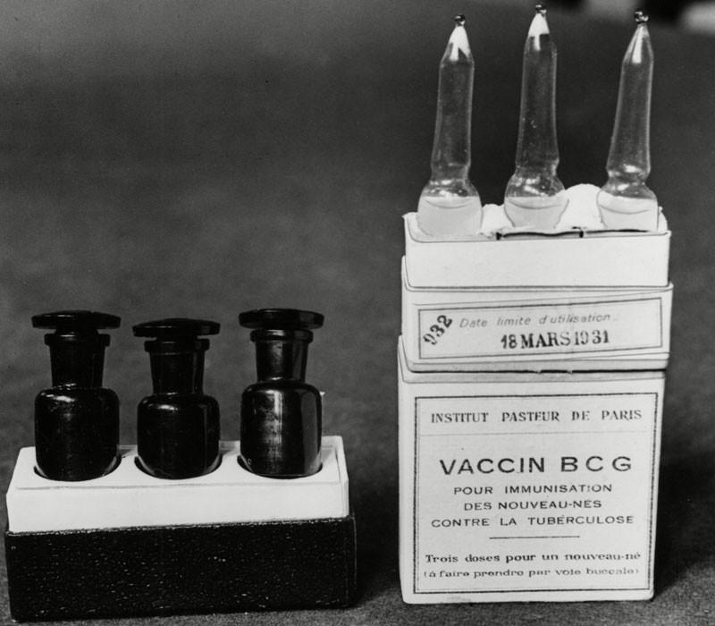 Image of Vaccine BCG ampullae.
