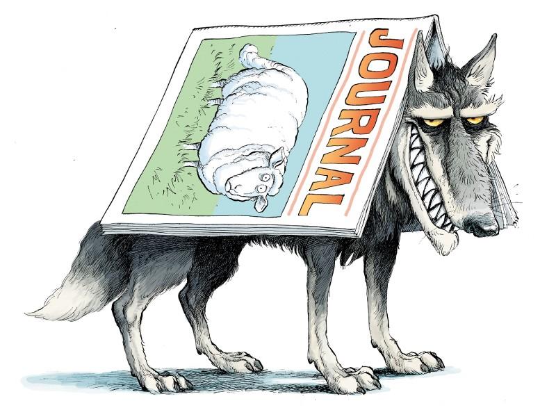Ilustración de David Parkins: revistas predadores