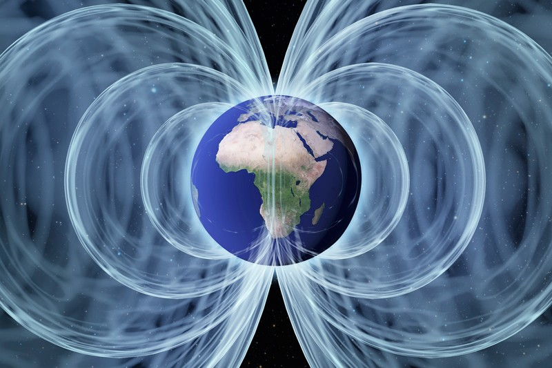 Earth's magnetic field, computer artwork