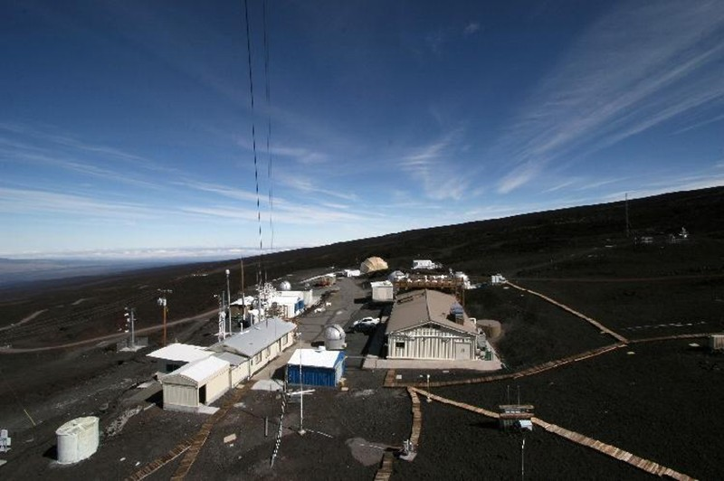 Mauna Loa Observatory as seen from the meteorological tower