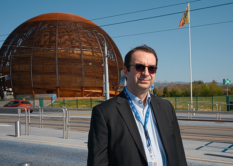 Beniamino Di Girolamo at CERN's Globe of Science and Innovation building