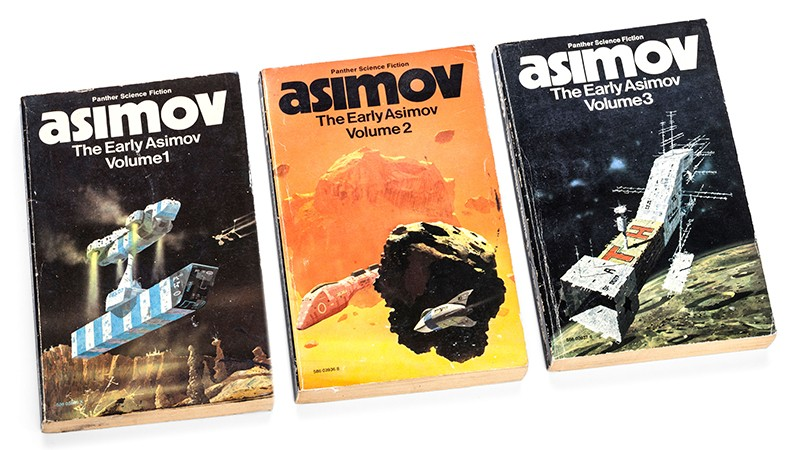 The early Isaac Asimov paperback books, volumes 1, 2 and 3.