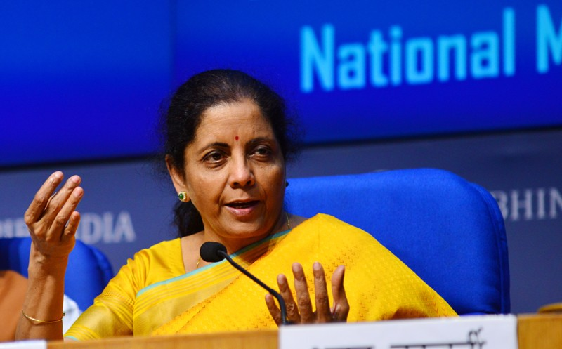 Union Finance Minister Nirmala Sitharaman during a press conference after presenting the Union Budget 2020-21, India