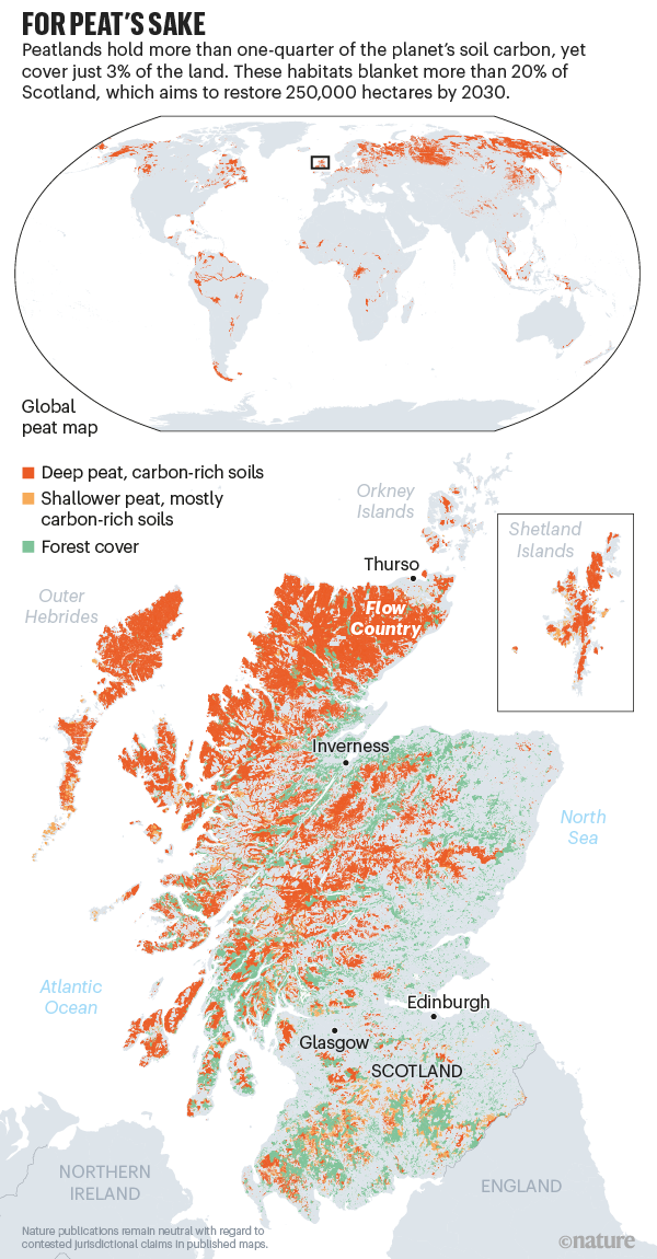 For peat's sake: a map of peatland in Scotland.