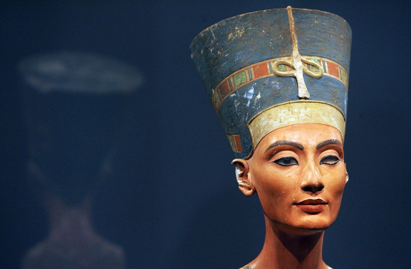 The bust of one of history's great beauties, Queen Nefertiti of Egypt