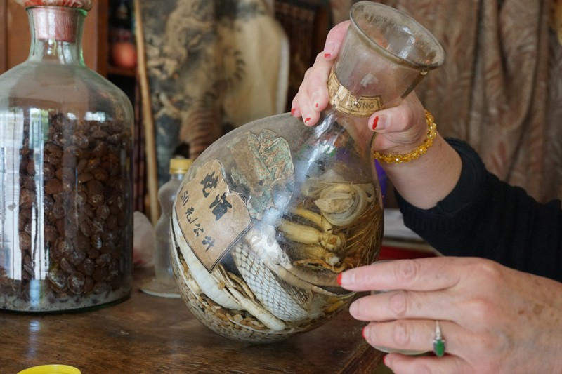 Old jar of snake wine found in Kunming, Yunnan, China